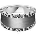 Cai Ring 925/- Sterling Silber rhodiniert Ornamente weiß 21253 58 (18,5)