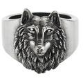 Cai Ring 925/- Sterling Silber oxidiert Wolf Europa Silbergrau 22051 58 (18,5)