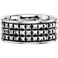 Cai Ring 925/- Sterling Silber rhodiniert Struktur weiß 21213 58 (18,5)