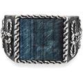 Cai Ring 925/- Sterling Silber rhodiniert Tigerauge weiß 21235 58 (18,5)