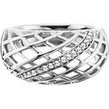 Cai Ring 925/- Sterling Silber rhodiniert Topas weiß 21083 50 (15,9)