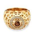 Cai Ring 925/- Sterling Silber vergoldet Rauchquarz gelb 21089 50 (15,9)
