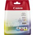 Canon Tinten Multipack BCI-6C/6M/6Y