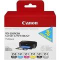 Canon Tinten Multipack PGI-550PGBK/CLI-551BK/551C/551M/551Y/551GY