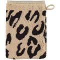 cawö Instinct Leopard Waschhandschuh braun 16x22 cm