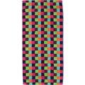 cawö Lifestyle Karo Saunatuch multicolor 70x180 cm