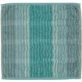 cawö Noblesse Cashmere Streifen Seiflappen mint 30x30 cm