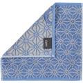 cawö Seiflappen blau 30 x 30 cm Sonnenmuster