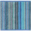 cawö Seiftuch blau 30 x 30 cm gestreift
