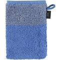 cawö Waschhandschuh blau 16 x 22 cm, Querstreifen