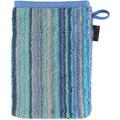 cawö Waschhandschuh blau 16 x 22 cm