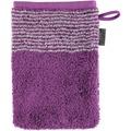 cawö Waschhandschuh purpur 16 x 22 cm