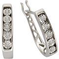 Celesta Diamonds Creolen 925/- Silber 10xDiamant Silbergrau 5767