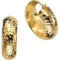 Celesta Gold Creolen 375/- Gelbgold diamantiert  14069