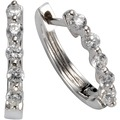 Celesta Silber Creolen 925/- Sterling Silber Zirkonia Silbergrau 9419