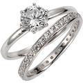 Celesta Silber Ring-Set 925/- Sterling Silber Zirkonia weiß 14103 54 (17,2)