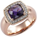 Celesta Silber Ring 925/- Sterling Silber bicolor Zirkonia rot 7845 54 (17,2)