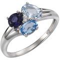 Celesta Silber Ring 925/- Sterling Silber rhodiniert weiß 5869 54 (17,2)