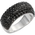 Celesta Silber Ring 925/- Sterling Silber synth. Spinell schwarz Silbergrau 9377 54 (17,2)