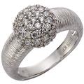 Celesta Silber Ring 925/- Sterling Silber Zirkonia Silbergrau 5383 54 (17,2)