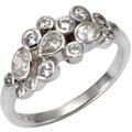 Celesta Silber Ring 925/- Sterling Silber Zirkonia Silbergrau 9407 54 (17,2)