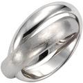 Celesta Silber Ring 925/- Sterling Silber zweireihig Silbergrau 9369 54 (17,2)
