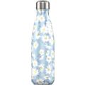 Chillys Isolierflasche Floral Daisy Gänseblümchen 500ml, hält 24 Stunden kalt und bis zu 12 Stunden heiß, auslaufsicher, kohlensäuredicht