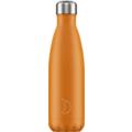 Chillys Isolierflasche Neon Orange 500ml, hält 24 Stunden kalt und bis zu 12 Stunden heiß, auslaufsicher, kohlensäuredicht