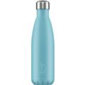 Chillys Isolierflasche Pastel Blue blau 500ml, hält 24 Stunden kalt und bis zu 12 Stunden heiß, auslaufsicher, kohlensäuredicht