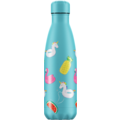 Chillys Isolierflasche Pool Party Day Einhorn Flamingo 500ml