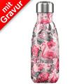Chillys Isolierflasche MIT GRAVUR (z.B. Namen) Tropical Flamingo 260ml