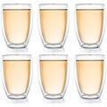 Creano Doppelwandglas hoch 6er Set, 400ml Thermoglas