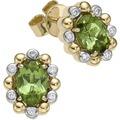 Creazione Bijoux Ohrstecker 750/- Gelbgold mit Turmalin und Diamanten  21907