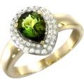 Creazione Bijoux Ring 750/- Gelbgold mit Turmalin und Diamanten  21853 54 (17,2)