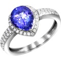 Creazione Bijoux Ring 750/- Weißgold mit Tansanit und Diamanten  21487 54 (17,2)