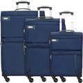 d & n Travel Line 6704 4-Rollen Kofferset 3tlg. blau