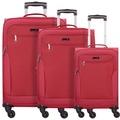 d & n Travel Line 6804 4-Rollen Kofferset 3tlg. bordeaux