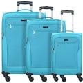 d & n Travel Line 6804 4-Rollen Kofferset 3tlg. petrol