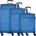 d & n Travel Line 7004 4-Rollen Kofferset 3tlg. blau