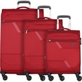 d & n Travel Line 7004 4-Rollen Kofferset 3tlg. bordeaux