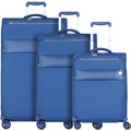 d & n Travel Line 8004 4-Rollen Kofferset 3tlg. blau