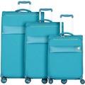 d & n Travel Line 8004 4-Rollen Kofferset 3tlg. petrol