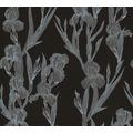 Daniel Hechter Vliestapete Blumentapete schwarz grau weiß 375262 10,05 m x 0,53 m