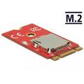 DeLock Adapter M.2 Key B+M > 1x Micro SD Card Slot