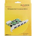 DeLock PCI Express Karte > 4 x USB 3.0