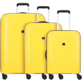 Delsey Brisban 4-Rollen Kofferset 3tlg. gelb