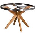DeVries Robusta / Willington Tischgestell ø 120 cm mit Tischplatte ceramic rusty