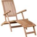 DeVries Woodie Deckchair inkl. Auflage uni green