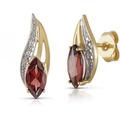 Diamonds by Ellen K. Ohrstecker 333/- Gelbgold zweifarbig Granat  Brillant  22941
