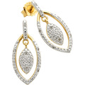 Diamonds by Ellen K. Ohrstecker 925/- Sterling Silber Diamanten gelb 22663